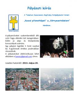 Pályázati felhívás 2012/2013